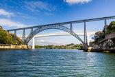 Metallic and Beam Bridges, Porto, River, Portugal — Stock Photo