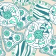 Abstract floral seamless pattern — Stok Vektör