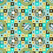 Mosaic seamless pattern background — Stock Vector #10715999