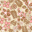 Stock Vector: Flowers seamless pattern