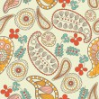 Stock Vector: Paisley seamless pattern