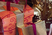 Wrapped presents — Stock Photo