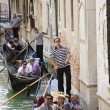 Stock Photo: Gondoliers at work in Venice Italy