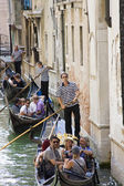 Gondoliers at work in Venice Italy — Stock Photo