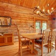 Log cabin dining room interior. — Stock Photo #10227706