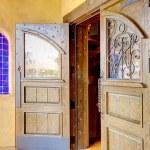 Spanish architecture details of old door. — Stock Photo #10250737