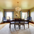 Large luxury elegant dining room with four windows. — ストック写真