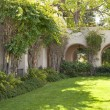 Balboa park main building area green landscape. - Stock Photo