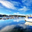 Gig Harbor, WA. Small town downtown marinarea. — Stock Photo #10428809