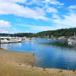 Gig Harbor, WA. Small town downtown marinarea. — Stock Photo #10429029