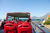 Cape Town tourist bus tour. South Africa. — Stock Photo