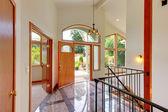 New luxury home entrance — Stock Photo