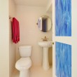 Toilet and sink in a new white bathroom. — Stock Photo #8877129