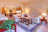 Beautiful light living room design — Stock Photo