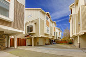 City townhome apartment building — Stock Photo