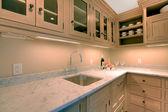 Natural luxury kitchen — Stock Photo