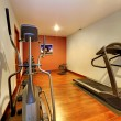 Modern home gym in the basement. — Stock Photo #9289695