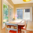Dining room breakfast area in a small kitchen. — Stock Photo