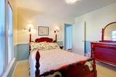 Beautiful romantic classic blue bedroom. — Stock Photo