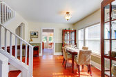 Dining room in beautiful old American small house. — Stock Photo