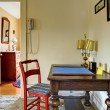 Old desk in hallway English charming house. — Stock Photo