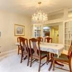 Classic American dining room interior. — Stock Photo