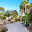 Trail in San Diego zoo with elephant sculpture. — Stock Photo #9818268