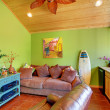 Green beach pool living room in the little house. — Stock Photo #9979599