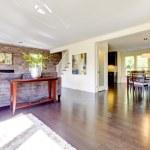 Beautiful modern large bright living room. — Stock Photo