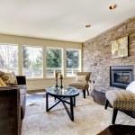 Beautiful modern large bright living room. — Stock fotografie #9981447