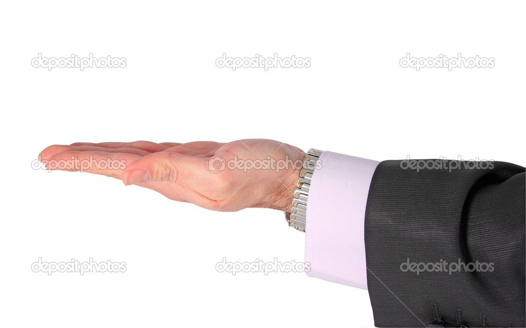 Businessman reaching out — Stock Photo #9396036
