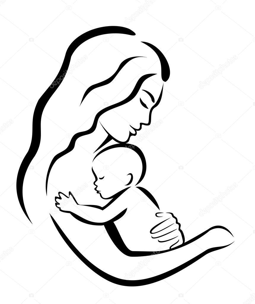 妈妈和宝宝 — 图库矢量图片 #10139316