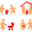 Family set of icons — Stock Vector