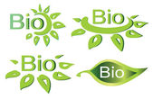 Bio concept set of logotypes and symbols — Stock Vector