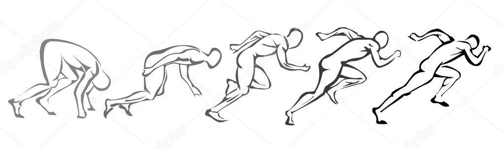 бегущий человек — Вектор