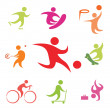 Street sport icons collection - Stock Vector