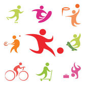 Street sport icons collection — Stock Vector
