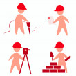 Builders icons — Stock Vector #9248784