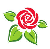 Rose symbol — Vector de stock
