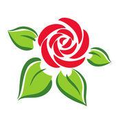 バラのシンボル — ストックベクタ