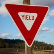 Stock Photo: Yield Sign