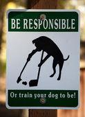 Be Responsible — Stock Photo