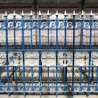 Royal Blue Fence — Stock Photo