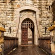 Stock Photo: Drawbridge to Castle Door