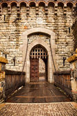 Drawbridge to Castle Door — Stock Photo