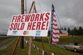 Signos de fuegos artificiales — Foto de Stock