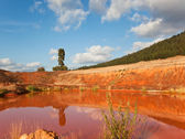 Red Clay Pond — Stock Photo