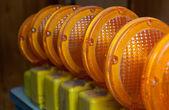 Orange Construction Lights — Stock Photo