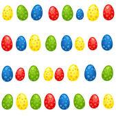 Colored eggs — Stock Vector