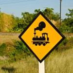 Train symbol with railway. — Stock Photo